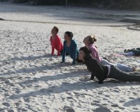 joga na plaży